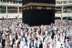 穆斯林在世界的不同的国家的麦加聚集了 免版税图库摄影