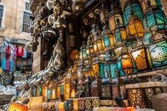 穆斯林样式的灯笼发光 免版税库存照片