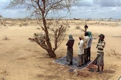 穆斯林祈祷公开 图库摄影