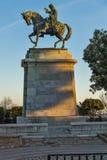 穆罕默德・阿里帕夏纪念碑在卡瓦拉、东部马其顿和色雷斯,希腊 免版税库存照片