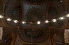 穆罕默德阿里清真寺圆顶,萨拉丁城堡-开罗,埃及 免版税图库摄影