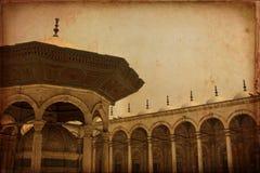 穆罕默德阿里清真寺,开罗埃及内部  免版税库存照片