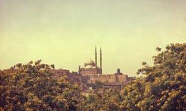 穆罕默德阿里清真寺,开罗埃及-巴伦西亚作用 免版税库存照片