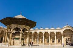 穆罕默德阿里清真寺,开罗,埃及萨拉丁城堡  免版税库存图片