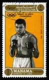 穆罕默德・阿里奥林匹克冠军邮票 免版税图库摄影