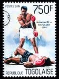 穆罕默德・阿里邮票 免版税图库摄影