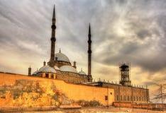穆罕默德・阿里巴夏伟大的清真寺在开罗 免版税库存照片