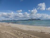 穆罗角在马霍卡岛的` s海滩 库存图片