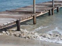 穆罗角在马霍卡岛的` s海滩 库存照片