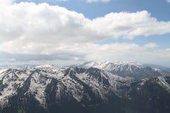 从穆萨拉峰峰顶的看法 库存图片