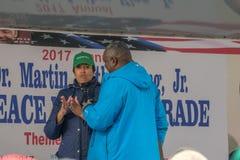 穆里尔MLK天集会的Bowser Speaking市长 图库摄影