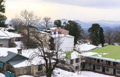 穆里的在冬天,巴基斯坦议院 库存照片
