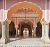 穆巴拉克玛哈尔在斋浦尔市宫殿,拉贾斯坦,印度 免版税库存照片