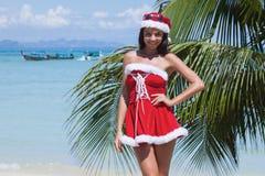 穆巴拉克 热带海滩的克劳斯 免版税图库摄影