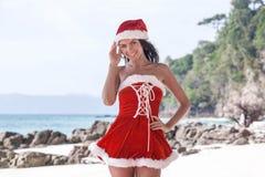 穆巴拉克 热带海滩的克劳斯 免版税库存照片