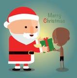 贫穷儿童的圣诞快乐 免版税库存照片