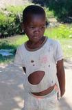 穷困孩子在莫桑比克,非洲 免版税库存照片