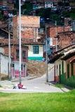 贫穷在波哥大 免版税库存照片