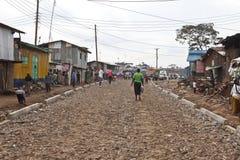 贫穷在Kibera 免版税库存照片