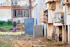 贫穷在Kiryat Malachi,以色列 库存照片