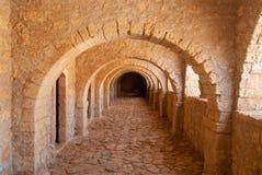 穹顶在克利特的修道院Arkadi里 图库摄影