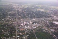空中世外桃源街市fl视图 库存图片