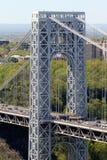 空中乔治・华盛顿桥梁 库存图片