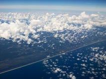 空中云彩 库存图片