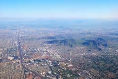 空中亚利桑那市菲尼斯视图 免版税库存图片
