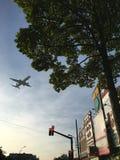 空中交通 免版税库存图片