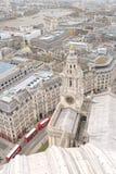空中伦敦英国视图 免版税库存图片
