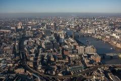 空中伦敦视图 图库摄影