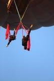 空中体操运动员 库存图片