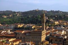 空中佛罗伦萨意大利 库存图片