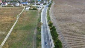 空中保加利亚山摄影strandja 从郊区机动车路的顶端看法 股票视频