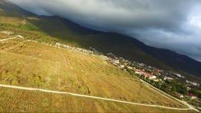 空中保加利亚山摄影strandja 美好的山风景的看法 股票录像