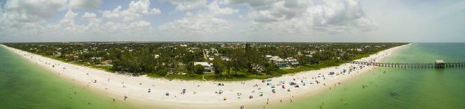 空中全景那不勒斯海滩佛罗里达 图库摄影