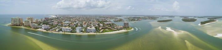 空中全景Marco海岛佛罗里达 免版税库存照片