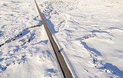 空中冰冷的路 免版税库存图片