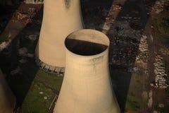 空中冷却塔 免版税库存图片