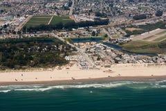 空中加利福尼亚沙丘华美的oceano视图 库存图片