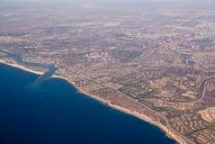 空中加利福尼亚视图 免版税库存图片