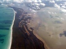 空中加勒比 库存照片