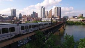 空中匹兹堡和建立射击的地铁 股票录像