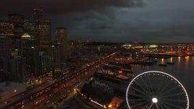 空中华盛顿西雅图 影视素材