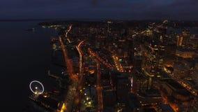 空中华盛顿西雅图 股票视频