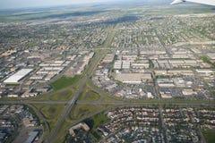 空中卡尔加里市照片 图库摄影