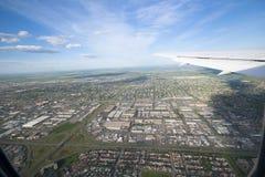 空中卡尔加里照片 免版税图库摄影