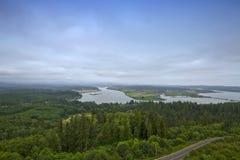 空中哥伦比亚峡谷河视图 库存图片