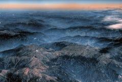 空中喜马拉雅山视图 图库摄影